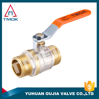 TMOK Ball Valve with Brass Thread materialHpb57-3, 3/4-Inch M*M Thread Connection In Yuhuan OUJIA VALVE Factory