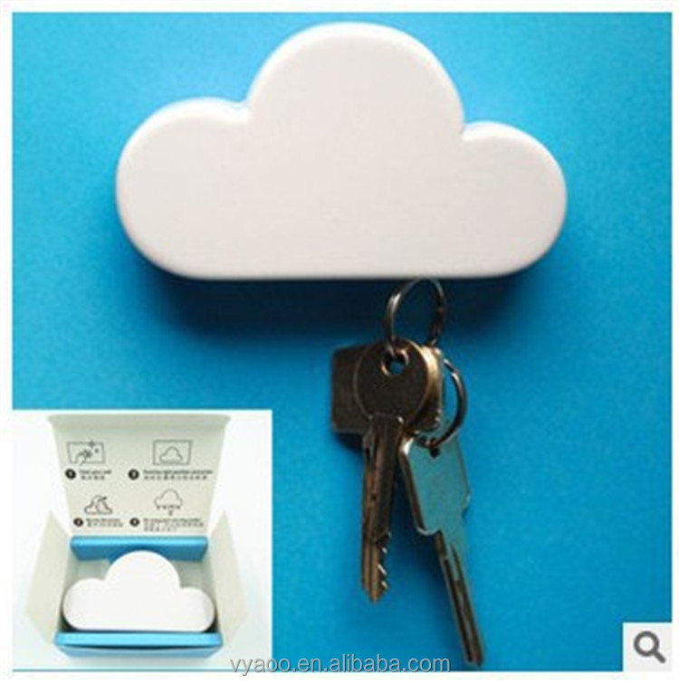 80 g White Cloud Magnetic Wall Key Holder - Easy to Mount