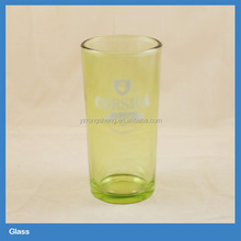logo printed colored glass water cup