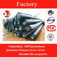 HDPE Black Rolls Geomembrane Liner Film For Lake