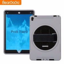 2017 Hot Sale 360 Degree Rotating hand strap case for ipad pro 9.7