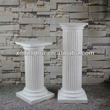 White Round Resin White Roman Column