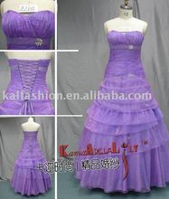 E2181 fashion good quality ruffles lilac wedding dress bridesmaid dress bridal dress
