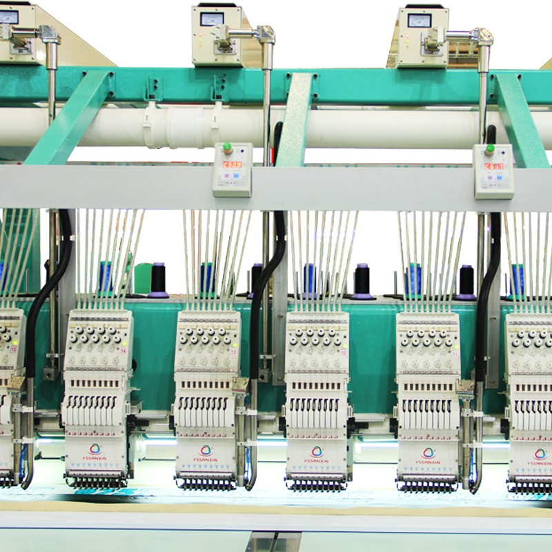 24 Head Laser embroidery machine with dahao embroidery machine spare parts