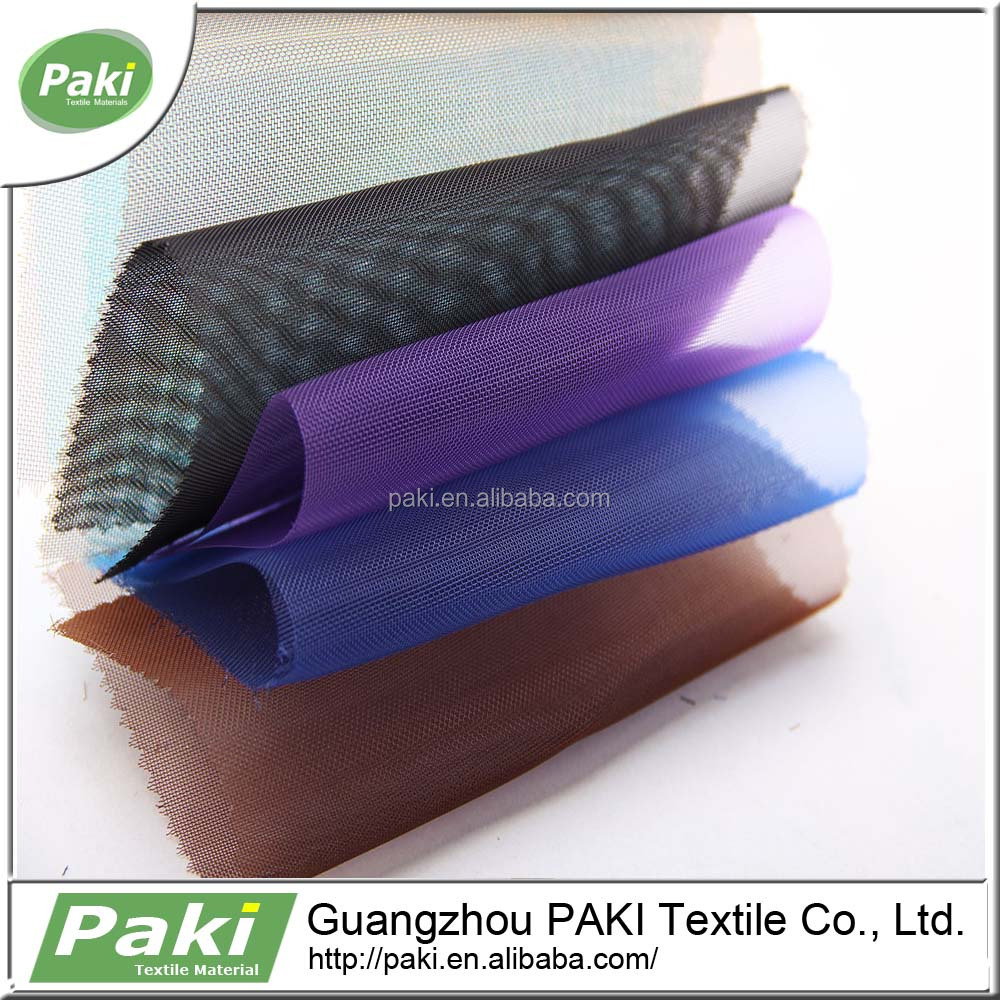 100% polyester light weight thin breathable mesh fabric for lining of wallet for shoes