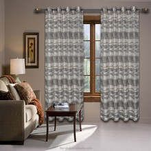 Elegant Grommet Ready Made Embroidered Polyester Curtain For Living Room