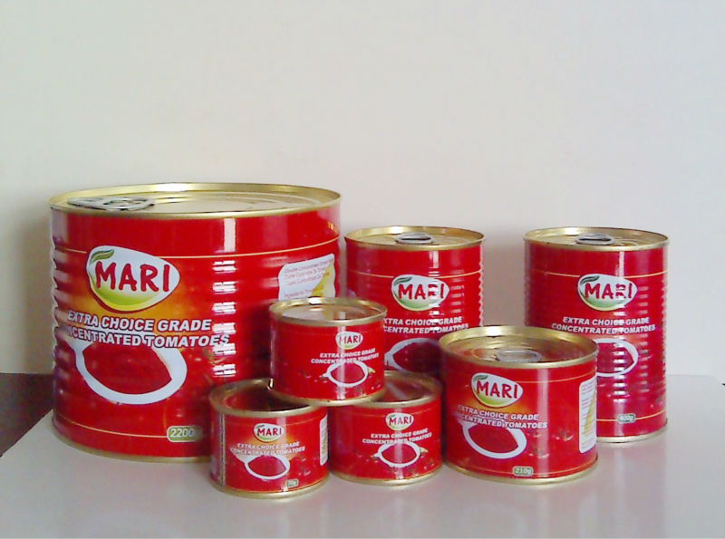 Health food Tomato paste in mini canned from china with brand 'snow red '