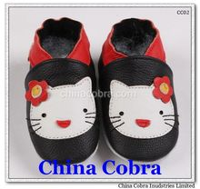 hello kitty design high quality soft sole leather baby shoes kids shoes children shoes CHINA COBRA