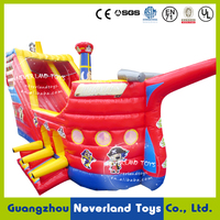 NEVERLAND TOYS Red Inflatable Pirate Boat Inflatable Pirate Ship Fun City Cheap Inflatable Playground on Sale