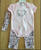Infant baby romper set headband romper and pants