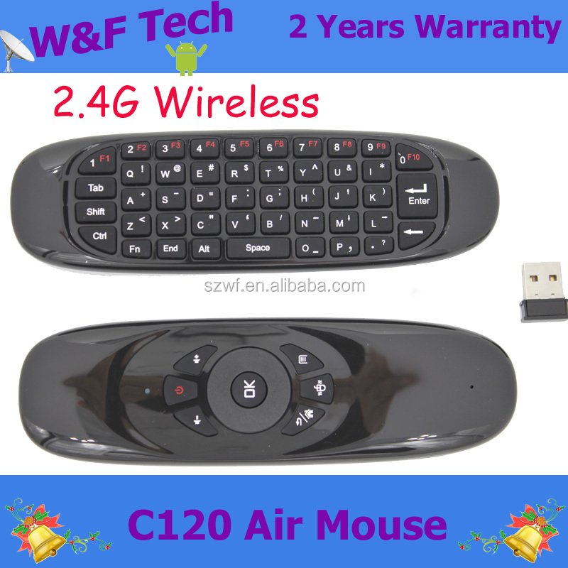 2016 air mouse c120 mini wireless keyboard for smart tv box