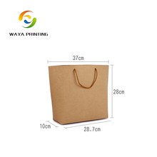Chinese factory custom made multi color fashion kraft paper bag with cotton handles