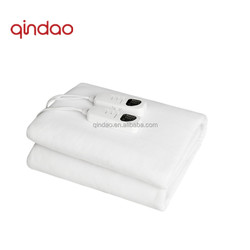 White Color Polar Fleece Electric Thermal Blanket with overheat Protection