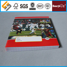 4 line english Different Sizes custom print exercise book