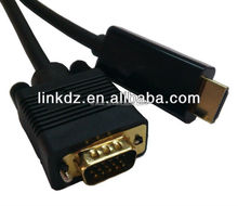 5meter HDMI GOLD MALE TO VGA HD-15 MALE Cable