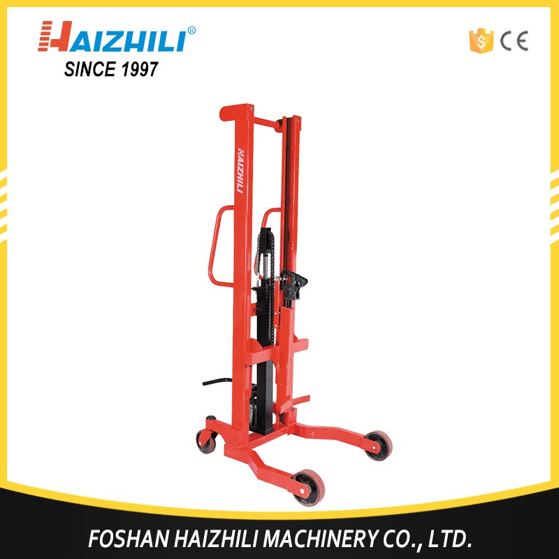 High quality pallet jack hydraulic lifting drum trolley truck