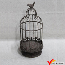 Vintage Handmade Antique Rustic Bird Cage Decoration