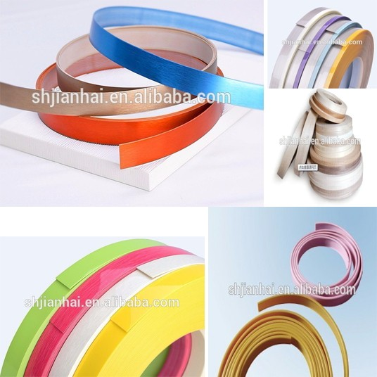 Quality colorful decorated plastic abs edge banding tape for Abs trimming kitchen cabinets