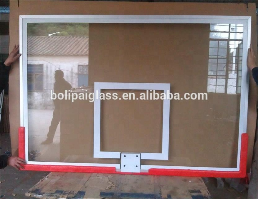 Standard Size 12mm Tempered Glass Basketball board for basketball hoops
