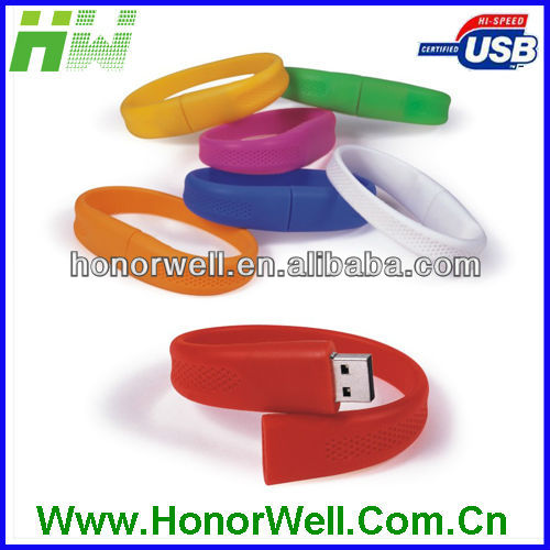 Silicon Bracelet 2GB usb flash memory for hot sell free logo