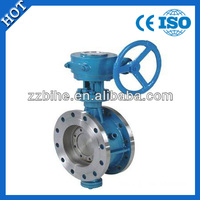 hand lever operated wafer type stainless steel butterfly valve DN120