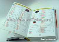 cheap full color paper lamination hardcover menu book