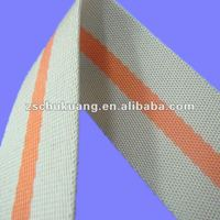 Double face mixed color PP stripe webbing tape for bags and safety seatbelt