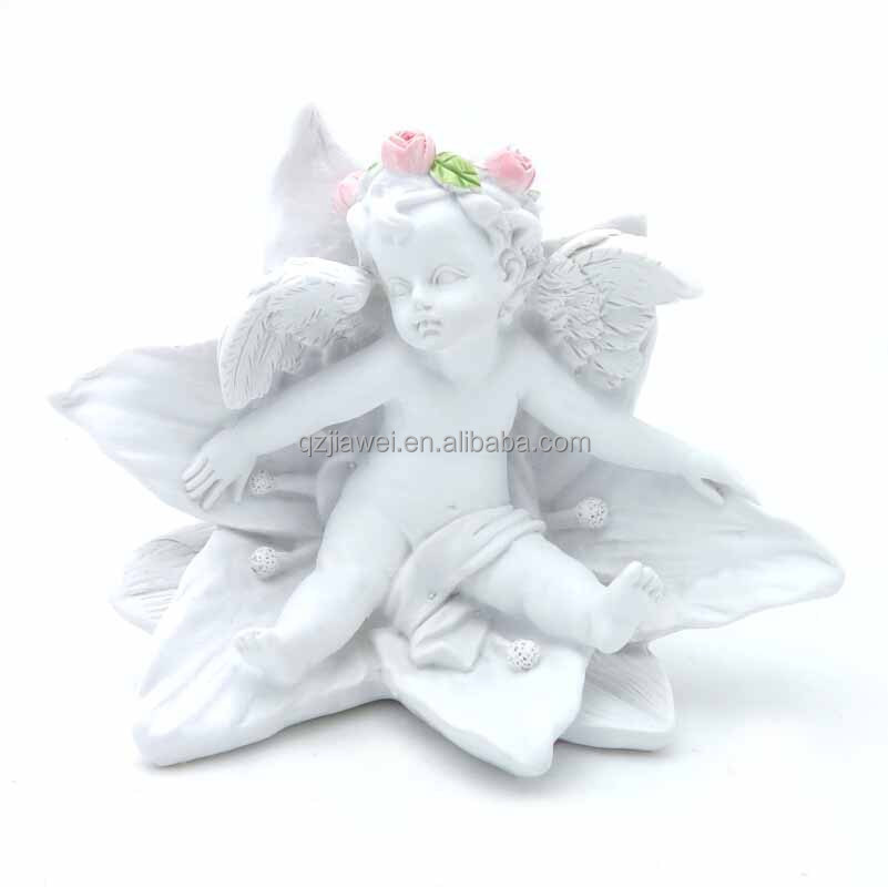 2016 Hot Sale New White Resin Cupid Figurines Promotional