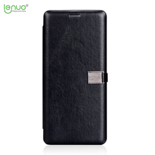 Lenuo new luxuxy high class TPU+PU leather flip cover for Samsung Galaxy Note 8 mobile phone case