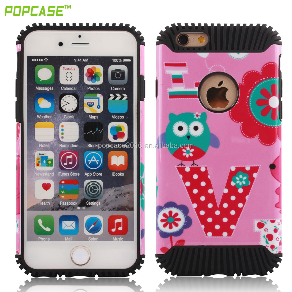 Free sample shockproof mobile phone case for iphone 6 PC+TPU case