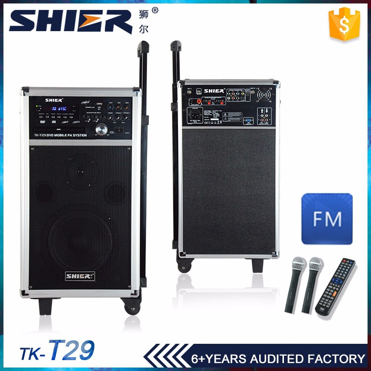 TK-T29 wireless trolley active dvd 120w speaker