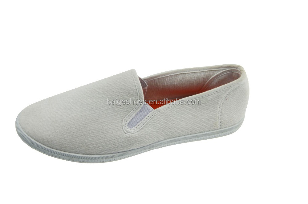 Simple cheap white canvas shoes wholesale china