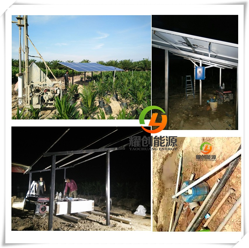 60,000 liters/hour 10-160m head lift DC / AC submersible deep well solar water pump system supplier
