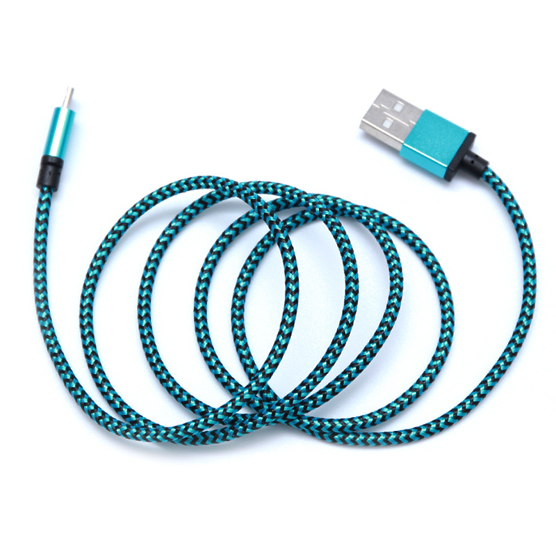 Mobile phone accessories  Alloy Nylon Braided  phone data line for iPhone X 8 6 6s