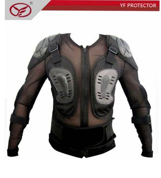 ADULT MOTORCROSS BODY ARMOR CHEST BACK ELBOW SHOULDER PROTECTOR & BELT