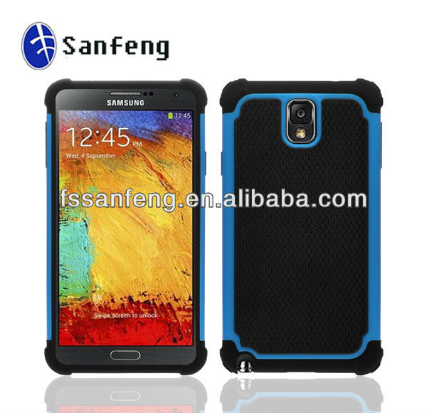 2013 Top Seller Protective Case Cover for Samsung Galaxy Note 3 N9000,Hard Shell Rubber Skin Case Cover for Galaxy Note 3