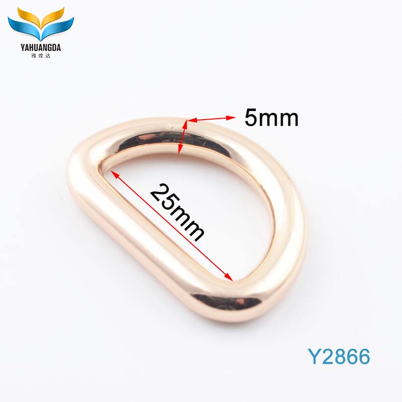 wholesale high quality hangbag hardware/shoe accessories adjustable shape d ring
