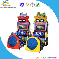 New arrival !!! Arcade Coin Operated Video Simulator Baby Car Racing Game Machine Kiddie Ride For Sale