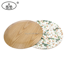 Food grade customized multi fancy dessert round wood tray