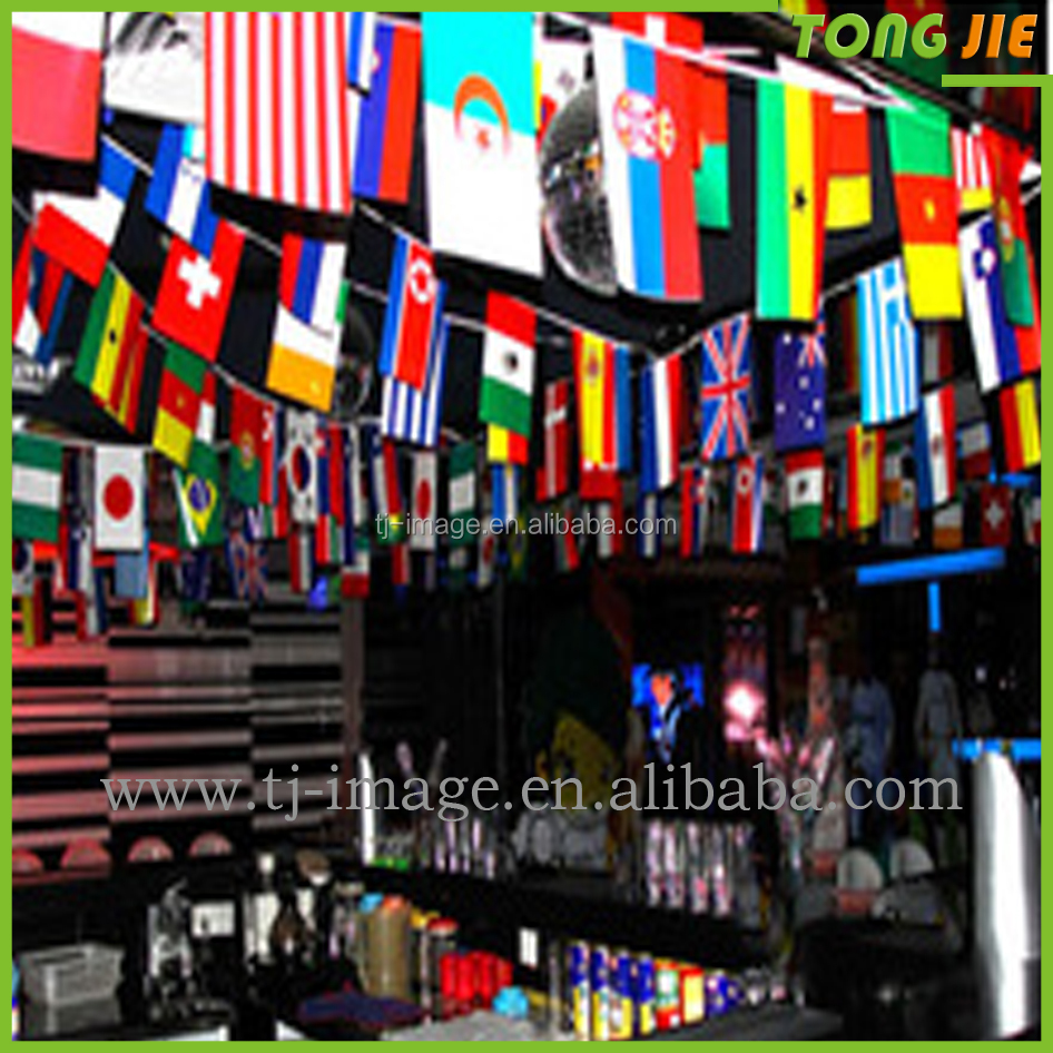 Felt pennant string flags/triangle flag string solvent printing flag material