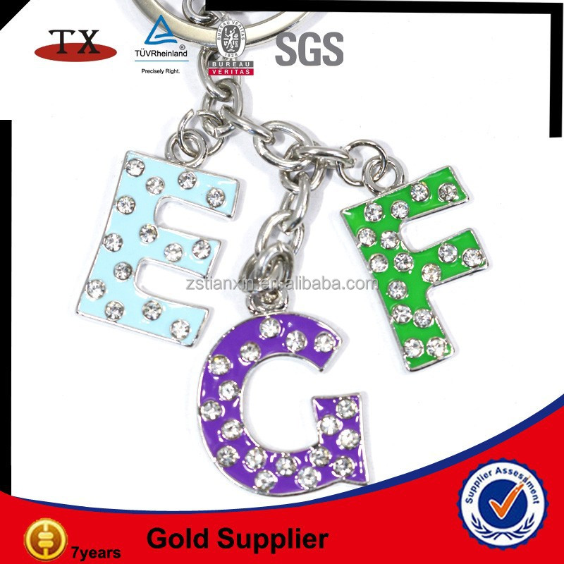 metal letter alphabets keychain