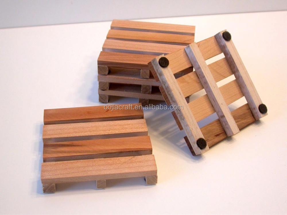 miniature wood pallet coasters suitable for all kinds of drinks mini pallet