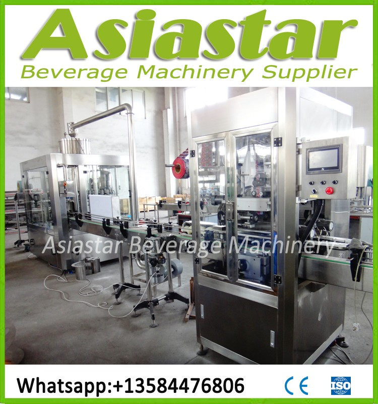 Good quality glass bottle soft drink packing machine with CE certification