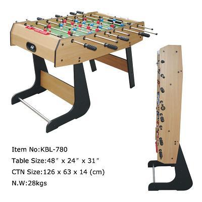 KBL-780 folding soccer table with manual slide score