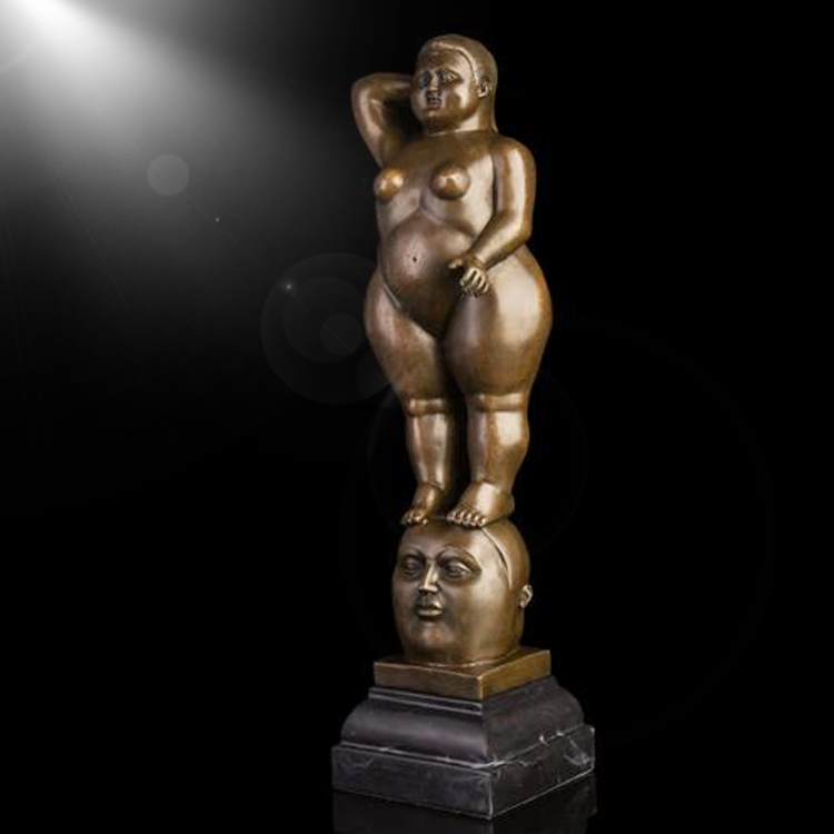 wholesale decoration bronze fat lady sculpture for sale