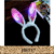 Yiwu Fancylove Jewelry LED Light Luminous Rabbit Ears Flashing Glitter Headbands with Ear Bunny Headband