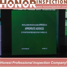 factory inspection report square led tv screen