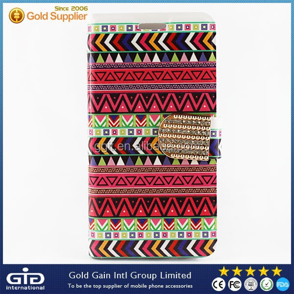 Embroidered Flip Cover PU Case For Samsung A3
