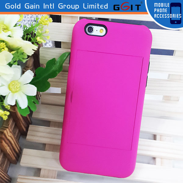 Factory Price New Credit Holder Case for iPhone 5, 2 in 1 Phone Case for iPhone 5