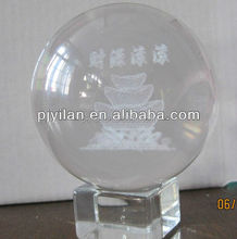 elegant k9 Crystal glass 3d laser engraved etched ball 100mm etched crystal ball for decoration globle